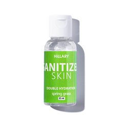 Антисептик Санітайзер Skin SANITIZER DOUBLE HYDRATION spring grass Hillary 35 мл