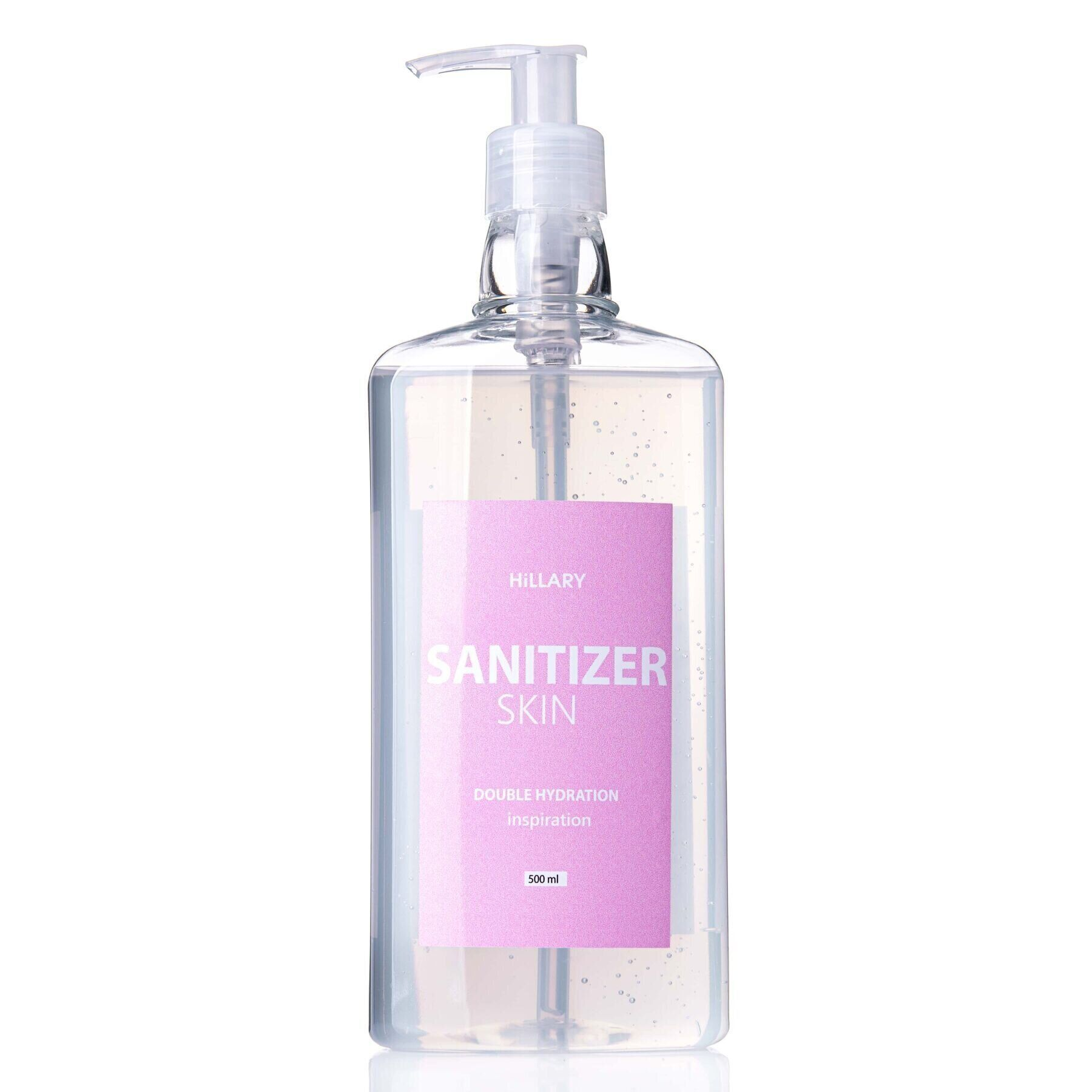 Антисептик Санітайзер Skin SANITIZER DOUBLE HYDRATION inspiration Hillary 500 мл